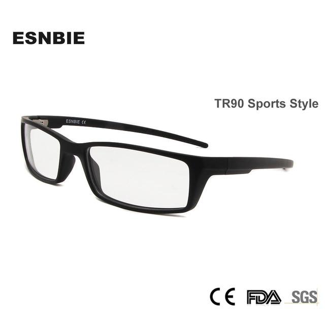 984cd0df1fdee ESNBIE Designer Homens Óculos TR90 Óculos de Armação dos óculos Óculos de  Lente Clara Peso Leve