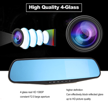 On sale Car-styling Rearview Mirror w/ DVR & Camera Auto Driving Digital Video Recorder L9000 Wide Angle Night Vision Dashcam Camcorder