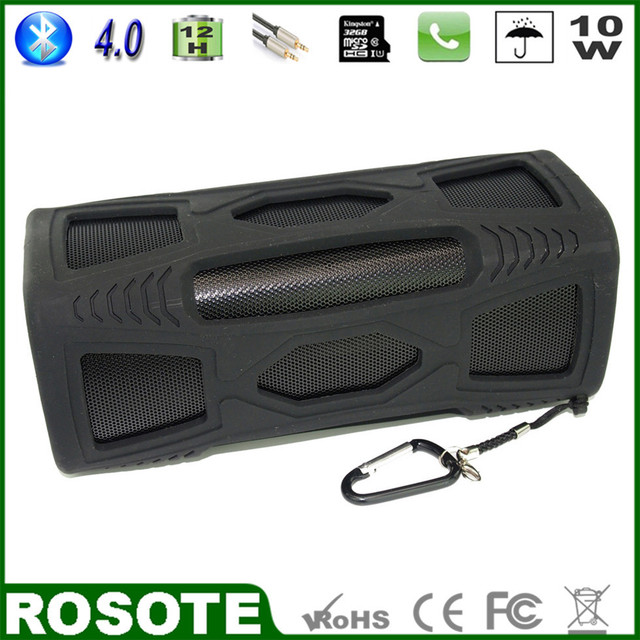 2015 New 10W Mini Waterproof Portable Outdoor Super Bass HI-FI metal Bluetooth 4.0 speaker