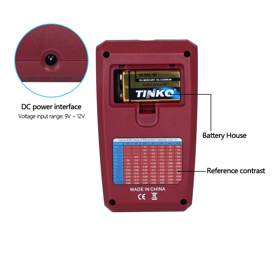 Купить с кэшбэком BSIDE ESR02PRO Digital Transistor SMD Components Tester Diode Triode Capacitance Inductance Multimeter Meter