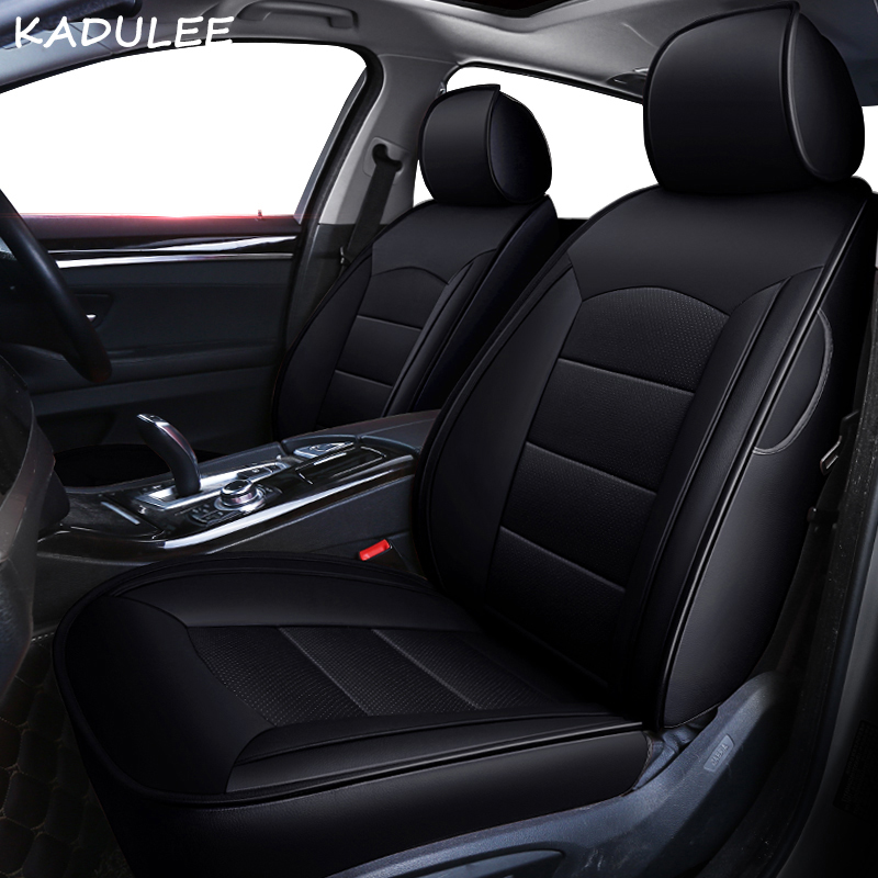 KADULEE custom real leather car seat cover for mitsubishi pajero 4 2 sport outlander xl asx