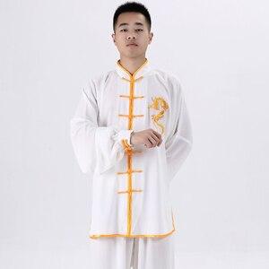 Image 4 - Форма для боевых СТВ, костюмы кунг фу с длинным рукавом, одежда Тай Чи, китайские традиционные народные уличные прогулки тайцзи