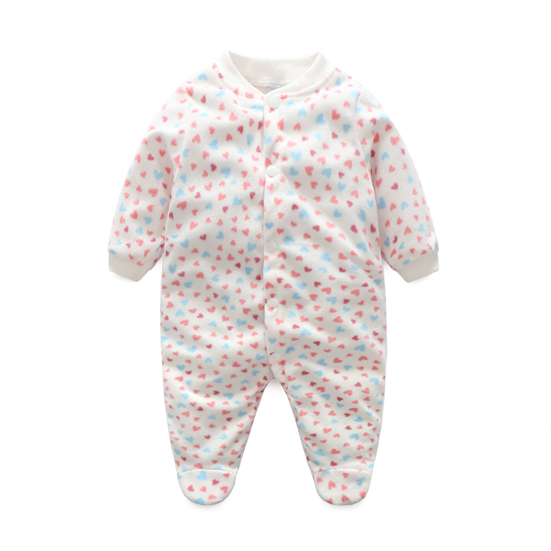 Newborn Baby Clothing Boy Girl Footed Rompers Animal Baby Romper Long Sleeve Fleece Sleep Clothes Pajamas New born Baby Product new newborn baby girl rompers pajamas long sleeve cotton romper clothes baby jumpsuit for babies animal infant boy girl clothing