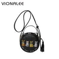 Shop Online Cat White Messenger Bags Mini Shoulder Girl Sale Handbags Women Bolsas Femininas Summer Tassel
