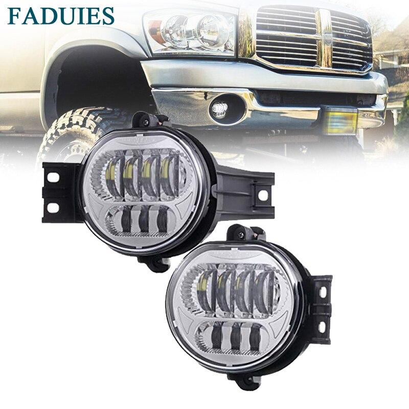 2018 New Version LED Fog Light for Dodge Ram 1500 2002 2008 Dodge Ram 2500 3500