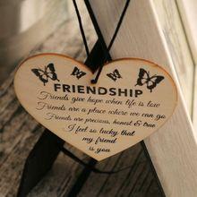Знак дружбы табличка лучший друг подарок потертый шик Сердце День рождения Рождественский подарок на день Святого Валентина Мода горячая распродажа