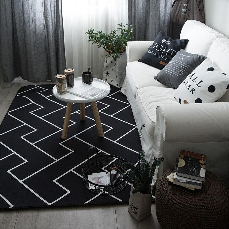 Épaissie velours corail plaine tapis non-slip tapis salon pad table basse couverture chambre coussin de chevet yoga tapis