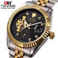 TEVISE Relógio Automático Dos Homens Relógios Mecânicos Com Enrolamento Automático Top Marca de Luxo Relógio Do Esporte Relogio Automatico masculino