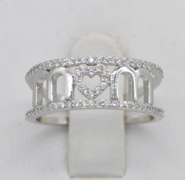 Женские кольца с сердечком и серебряным покрытием подарок на
