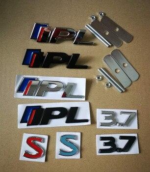 1X IPL 3,7 S 3D металлический автомобильный значок, решетка эмблемы, наклейка хром для Infiniti Q50 Q50L G37 G25 QX70 FX35 FX37, автомобильный Стайлинг