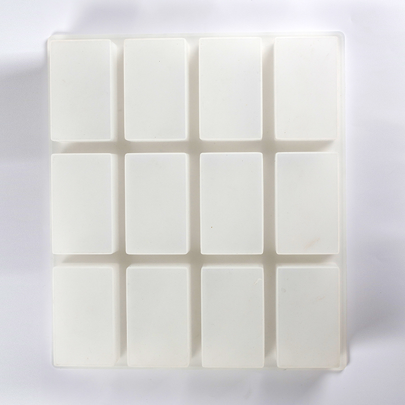 12 Cavity Soap Mold Rectangular Chocolate Loaf Bar Silicone Mould Handmade 6 oz Soaps Making Tool in Soap Molds from Home Garden
