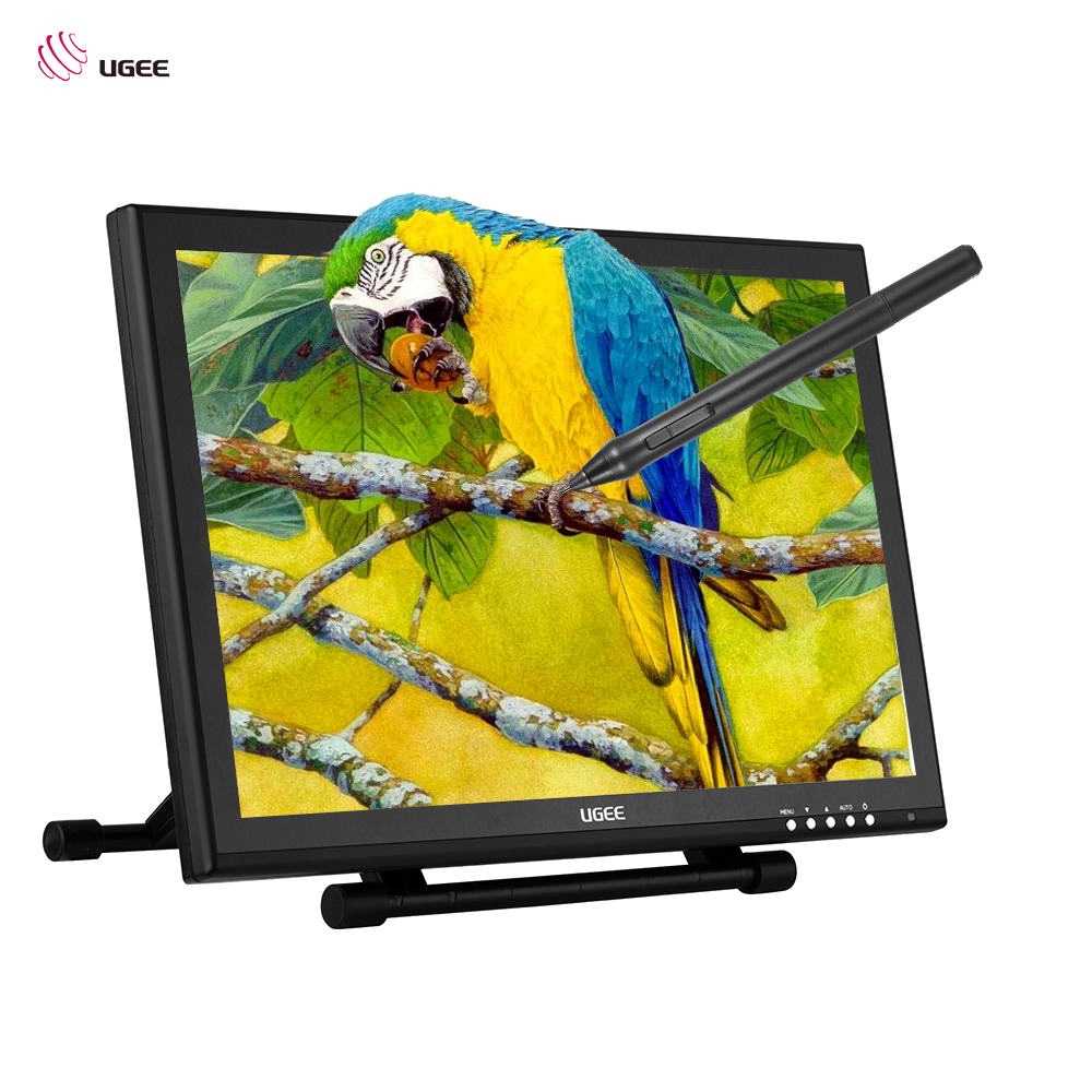 Ugee 1910B 19 5080LPI Graphics Drawing Tablet IPS Screen Monitor Display Stand Pressure Sensitivity 2048 Level For US Plug xp pen artist22e fhd ips pen display monitor graphics drawing tablet with 16 express keys