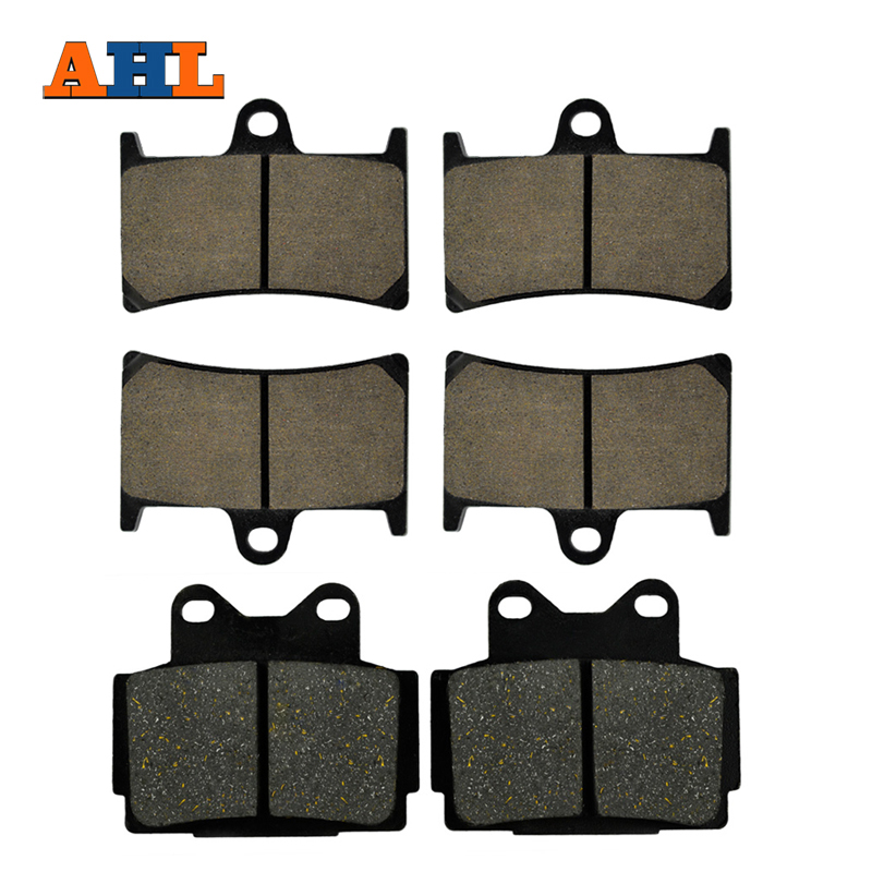AHL Motorcycle Front and Rear Brake Pads For YAMAHA FZS 600 Fazer 1998-2003 Black Brake Disc Pad motorcycle front and rear brake pads for yamaha fzr 400 a fzr400a 1990 brake disc pad