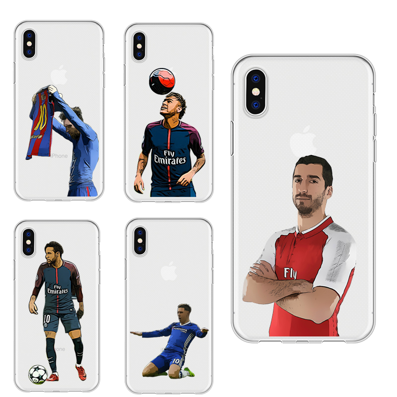 451bce90744 DIFFRBEAUTY Sport Soccer Football Messi Star Phone Case Coque For iPhone 5  6 6S X Clear Phone Cover For iPhone 8 7 Plus