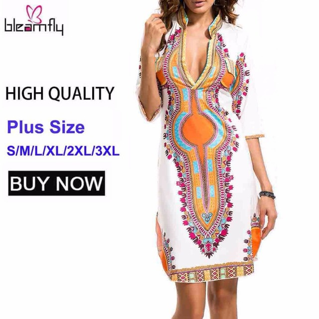 d4bef7a6f9084 3XL Plus Size Wholesale African Clothes Dashiki Dress for Women Casual  Summer Hippie Print Dashiki Fabric