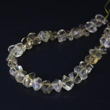 15.5/strand Natural Lemon Quartz Faceted Nugget Loose Beads,Cut Citrines Crystal Stone Pendants Charms Jewelry Making