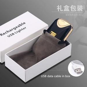 Image 4 - USB Aansteker Oplaadbare Elektronische Aansteker Sigaret Vingerafdruk Plasma Aansteker Dual Arc Sigaar Palse Persoonlijke Handtekening Custom