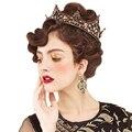 Primavera de La Boda Tiara de La Corona de La Boda Accesorios Nupciales Del Pelo de La Vendimia Barroca Joyería Del Pelo de la Belleza Real Ronda Crown Hair Styling