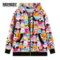 Plus Size 2016 New Harajuku Spring Autumn Heavy Keep Warm Hoody Female Woman's Coat Jacket Printed Hoodies Sweatshirts Women
