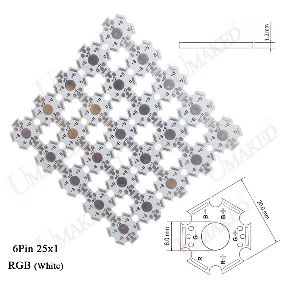 Led Heat Sink Aluminum Base Plate Pcb Board Substrate 20mm Star Rgb Printed Circuit Making For Ceiling Lighting Rgbw Diy Cooling Heatsink 1 3 5 W Watt High Power Leds In Light Beads From Lights