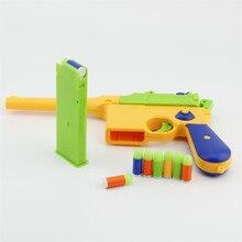 1 шт. классический M1896 игрушечный пистолет, Детский мягкий пулевидный пистолет, пластиковые игрушечные пистолеты, детский шутер, игровая игрушка для улицы