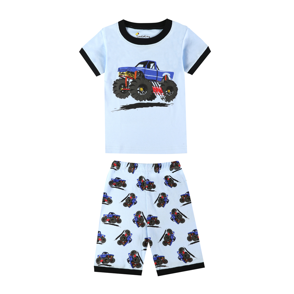c88ea9030 Aliexpress.com   Buy 2018 Summer Boys SUV Cars Pajamas Kids Truck ...