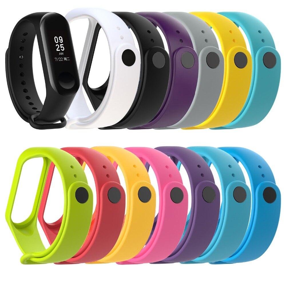 Nueva marca de reloj para mi Band 3 Correa mi band 3 correa de silicona para Xiaomi mi 3 pulsera de repuesto