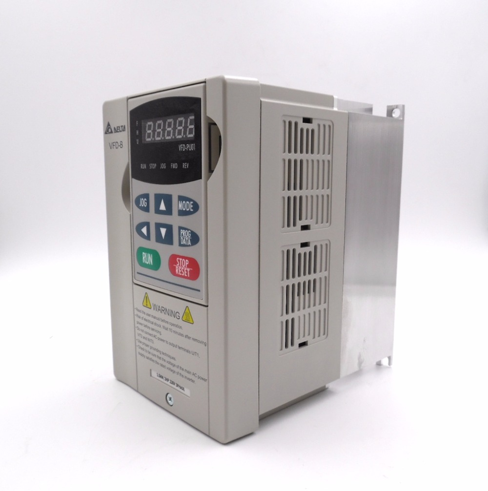 Vfd015b23a 3 phase 220v 1 5kw delta inverter vfd ac motor for 3 phase vfd single phase motor