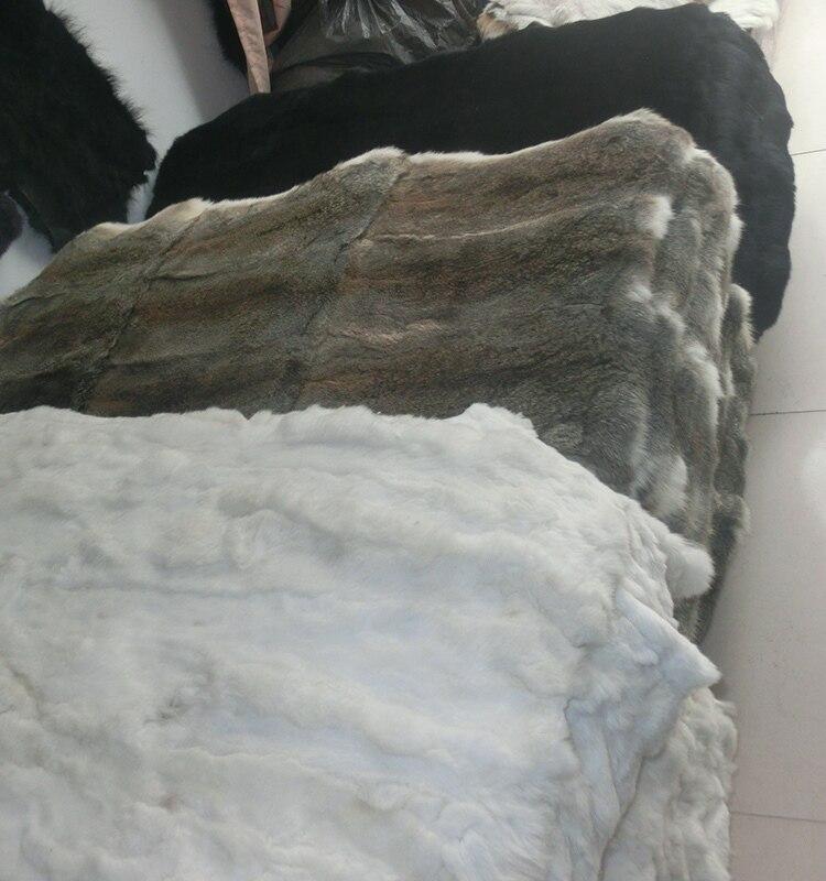 Plaque de peau de lapin Rex en gros/plaque de fourrure de lapin Rex blanc pour vêtements