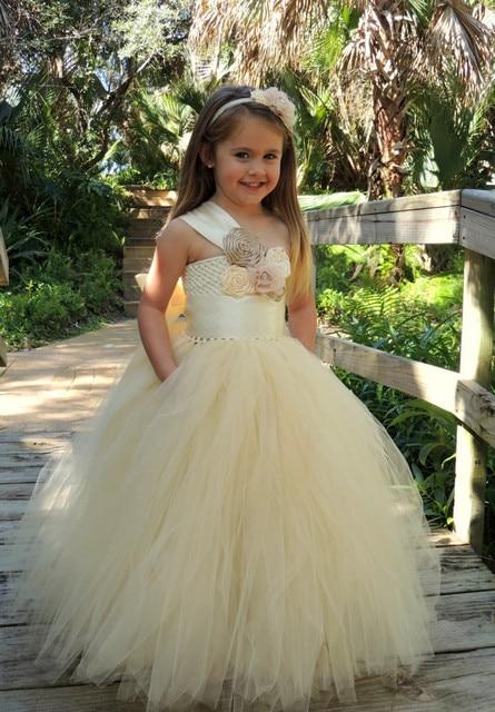 One Shoulder First Communion Dresses
