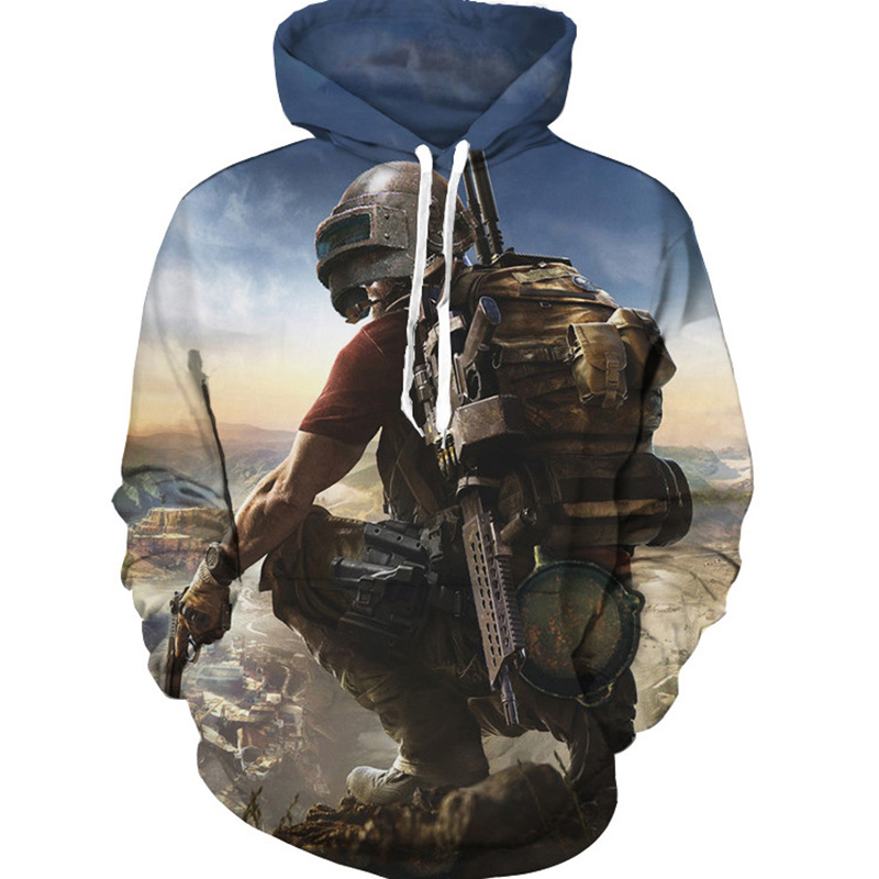 Game PUBG PlayerUnknowns Battleground 3D Print Hoodie Teens Plus Size Hooded Spring Sweatshirts Men Women Loose Pullover