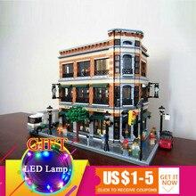 15017 4616 Pcs Starbucks Livraria Café conjunto de Blocos de Construção do Modelo Kits Bricks Compatível para Brinquedos Das Crianças