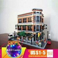 4616 15017 шт. Starbucks книжный магазин кафе набор модель здания Конструкторы наборы Кирпичи совместимы для детей игрушечные лошадки