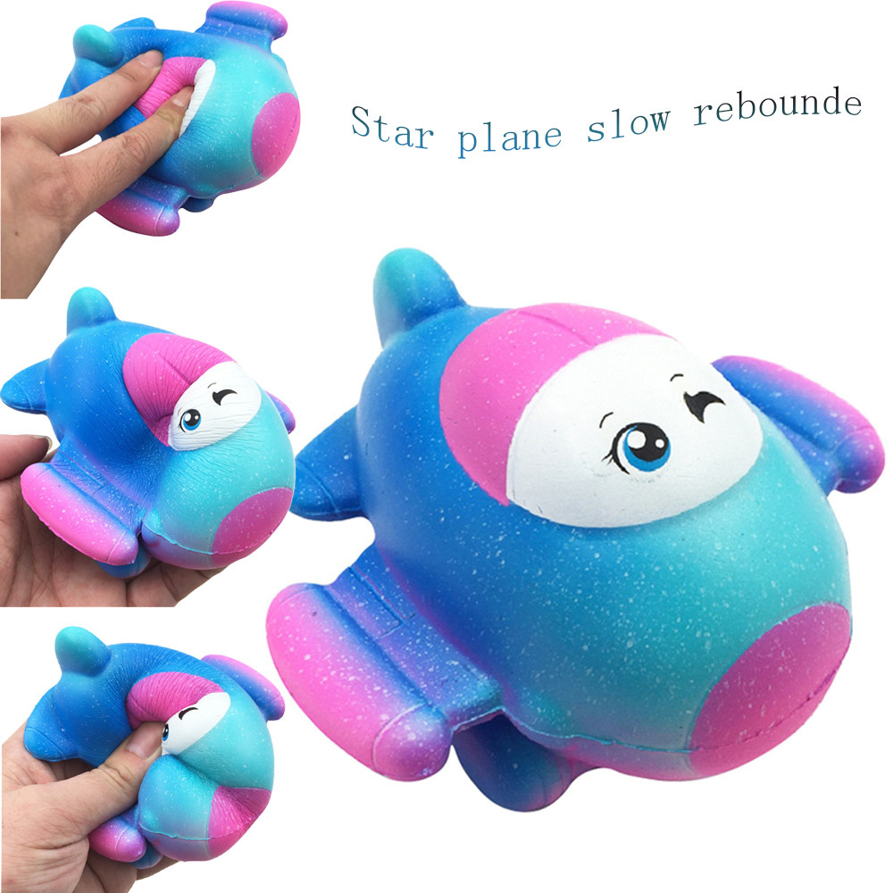 Cute Star Plane Squishy Slow Rising Collection Gift Scented Squeeze Toy Comfortable Cellphone Straps W604
