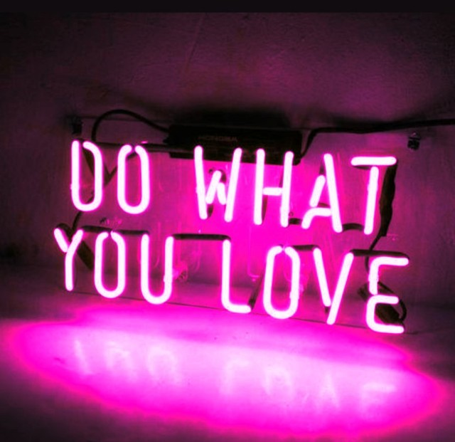 Custom DO WHAT YOU LOVE Blue White Red Pink Deep blue Purple Turquoise Green Yellow Glass Neon Light Beer Bar