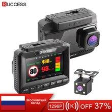 Ruccess антирадар, gps 3 в 1 Автомобильный dvr FHD 1296 P 1080 P двойной объектив Dash Cam Автомобильная камера Анти-радар видео видеорегистратор для автомобиля