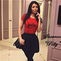 ANCITY Print Letter T-Shirt Women RED Cloth Short Sleeve Casual Tee Summer Oversized Shirts T Shirt female tees WS17