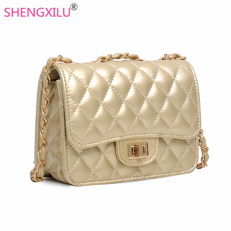 Shengxilu Chain Women Shoulder Bags Brand Fashion Gold Leather Las Crossbody Mini Handbags Summer S Messenger Bag In From Luggage