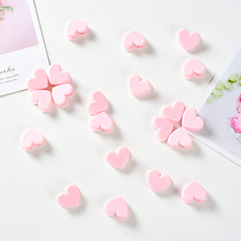 Wholesale 100pcs Pink Love Heart-shaped Clamp Fixed Postcard Clip for Photo Photography Background Accessories Drop Shipping