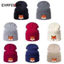 Evrfelan, модная зимняя женская шапка, шапка из хлопка для девочек, зимние шапки унисекс Skullie Beanies, Повседневная вязаная шапка, теплая детская шапка