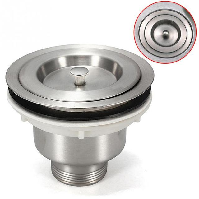1Pc 35mm drain hole Stainless Steel Kitchen Sink Filter Sewer ...