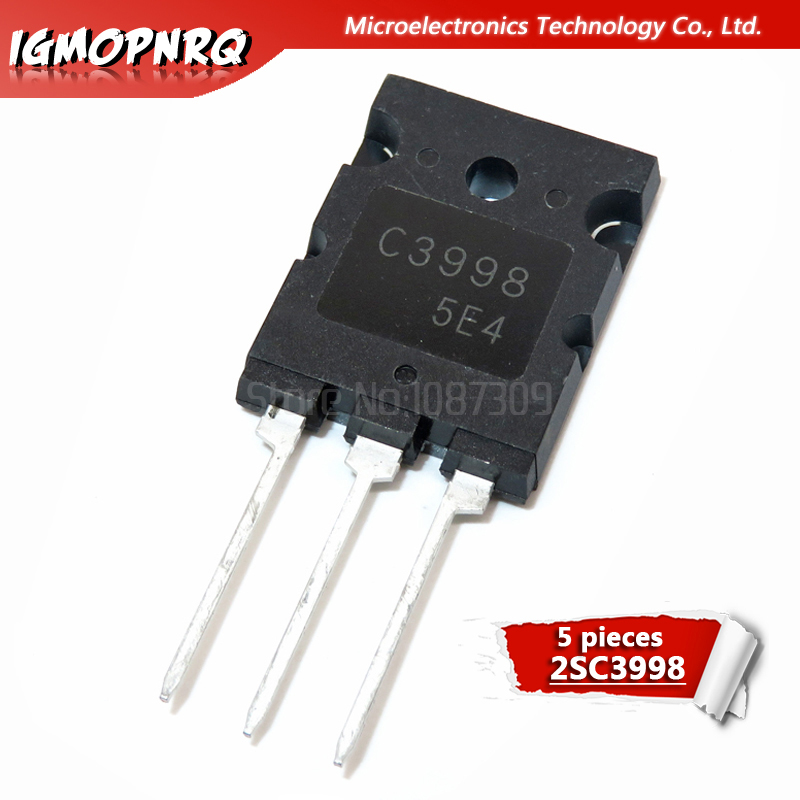 5pcs C3998 TO-3P 2SC3998 25A 1500V Transistor Original