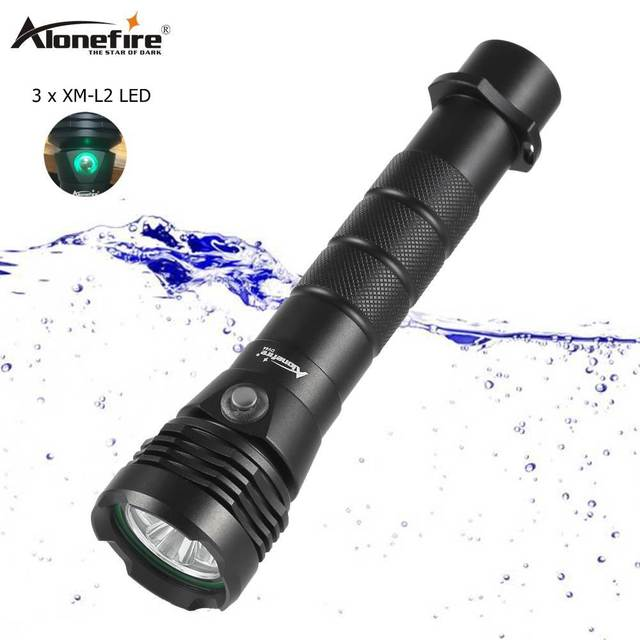 AloneFire DV44 Дайвинг фонарик 26650 свет Dive Факел Мощный Cree светодиодный XM-L2 подводный фонарик Водонепроницаемый Дайвинг лампы