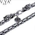100% collar de cadena de Plata Pura S925 collar de Plata de ley con HYN03 dragon head corchete de plata tailandesa collar envío libre