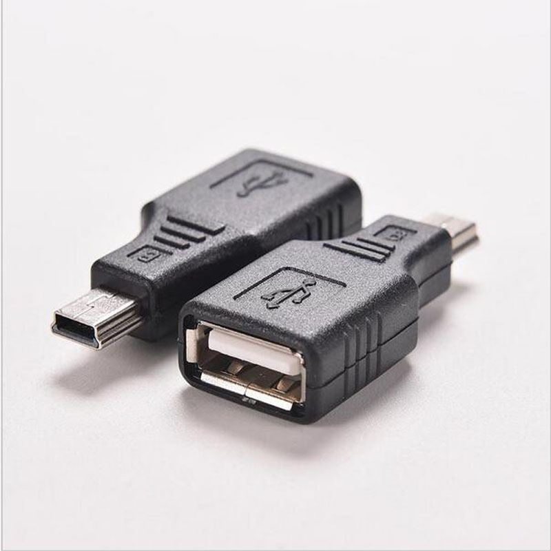 New Mini USB Male To USB Female Converter Connector Transfer Data Sync OTG Adapter For Car AUX MP3 MP4 Tablets Phones U-Disk