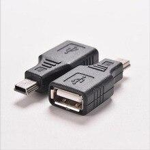 Nouveau Mini USB mâle vers USB femelle convertisseur connecteur transfert données Sync OTG adaptateur pour voiture AUX MP3 MP4 tablettes téléphones u disk