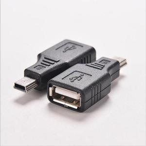 Image 1 - Nouveau Mini USB mâle vers USB femelle convertisseur connecteur transfert données Sync OTG adaptateur pour voiture AUX MP3 MP4 tablettes téléphones u disk