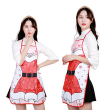 Merry Christmas Decoration Non-woven Apron Creative Gift Santa Claus Costume Party Celebration Supplies Lovely Christmas Tree цена
