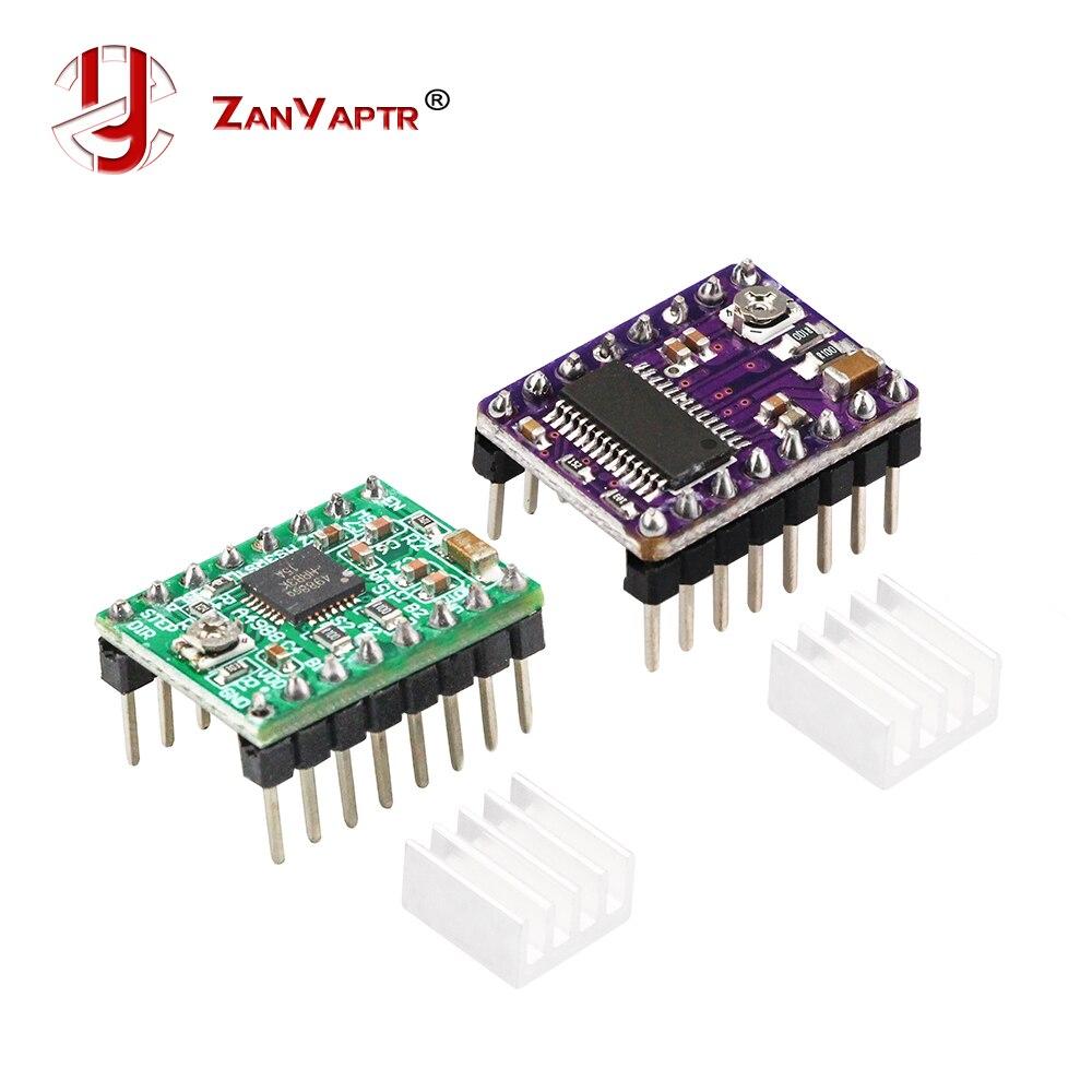 1Pc 3D Printer StepStick DRV8825 A4988 Stepper Motor Driver For Ramps 1.4 Reprap 4 PCB Module With Heat Sink