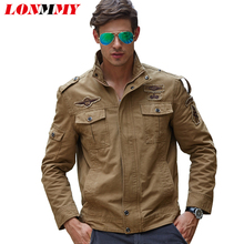 LONMMY M-6XL Military jacket for men coat Cotton jaquetas Brand clothing Bomber men's jacket 2019 New Army jackets mens coats